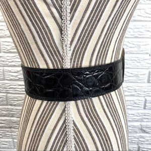 Banana Republic Accessories - Banana Republic Black Snakeskin Print Leather Belt